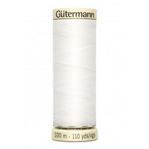 Fil Gutermann Blanc n°800 100m