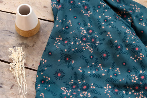 Viscose Daisy Green