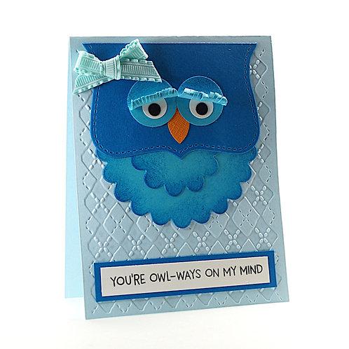 Owl-Ways On My Mind Thinking Of You Card