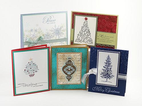 Christmas Card Set 5 Holiday Cards 020