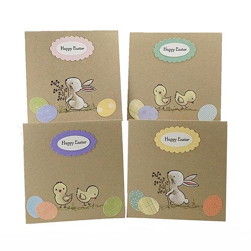 Easter Cards Handmade,  Easter Card Set, Set Of 4 Cards