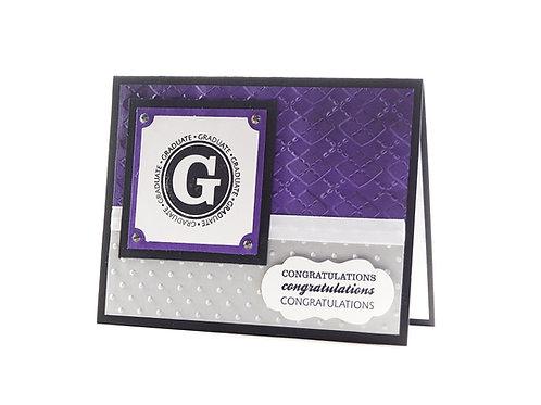 Graduation Congratulations Greeting Card Purple Black