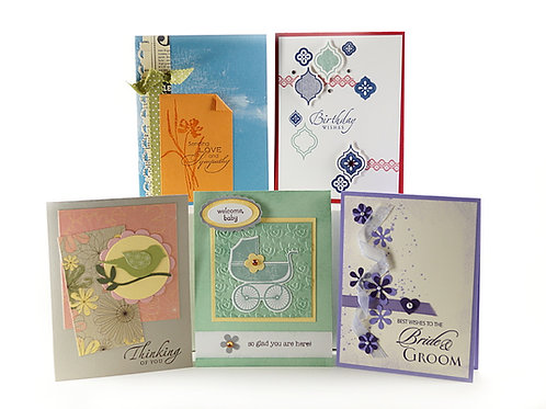 handmade greeting cards set