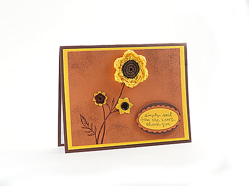 Thank You Card Fall Floral