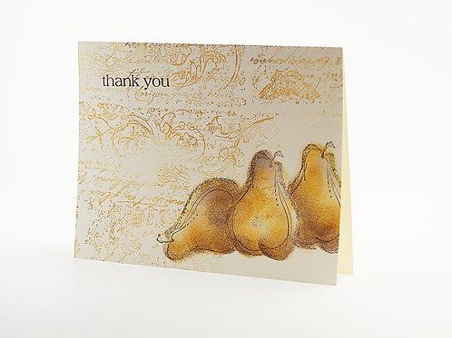 Thank You Pear Card