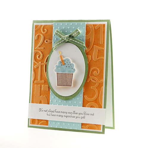 Happy Birthday Card For Kids Cupcake