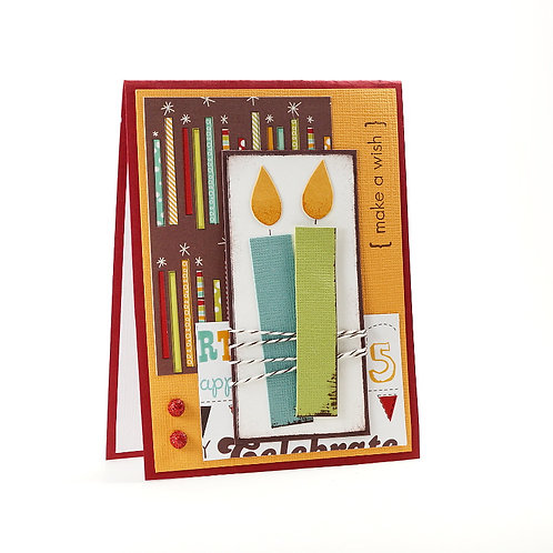 Make A Wish Birthday Candles Card