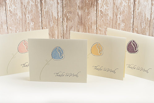 Thank You Vanilla Note Card Set Of 10