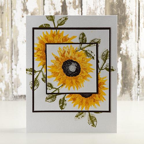 Sunflower Card White