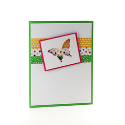 Butterfly Note Cards Lime