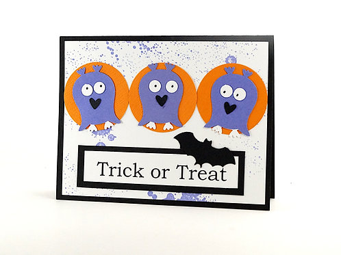 Trick Or Treat Halloween Kids Card