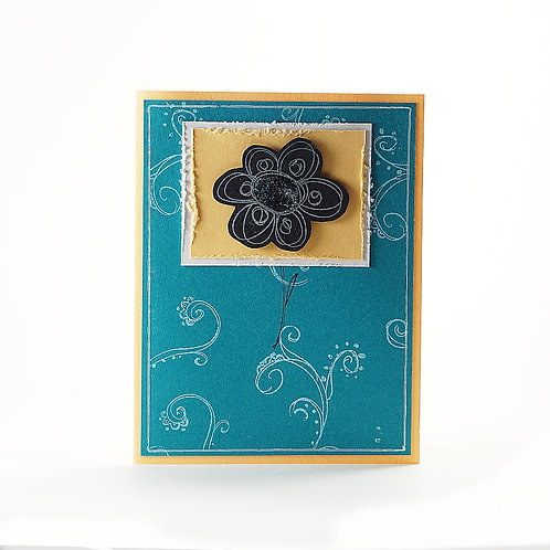 Just Because Flower Note Card