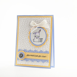 New Baby Card Hoppy Little Baby Card
