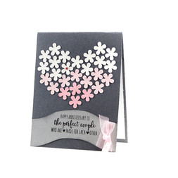 Anniversary Heart Card Bouqet