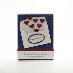 Anniversary Lifetime Together Mini Hearts Card