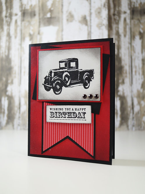 Birthday For Him Classic Car Red Card