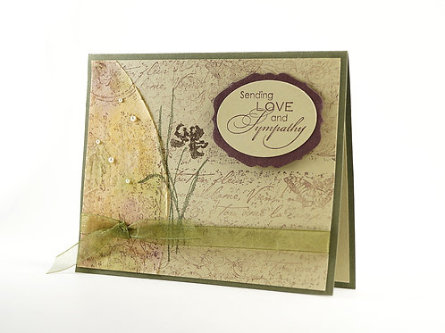 Sending Love Sunset Sympathy Card