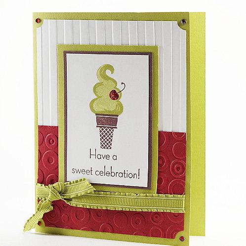 Sweet Celebration Birthday Ice Cream Card