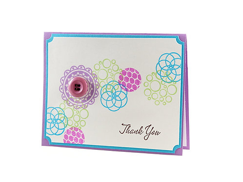 Thank You Lavendar Modern Circles Card