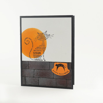 Happy Halloween Cat Harvest Moon Card