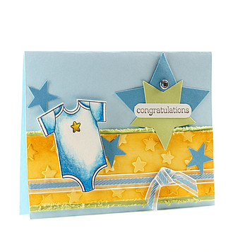 Newborn Baby Congratulations Card Star