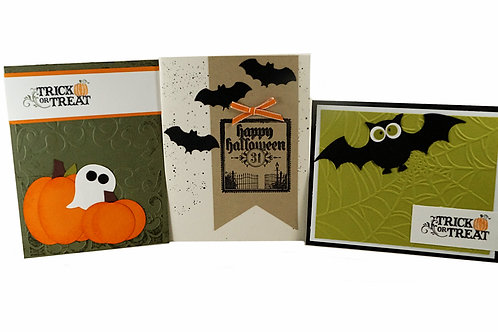 Halloween Kids Cards Set Of 3
