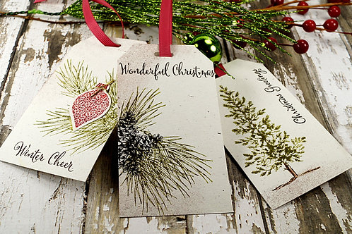 Woodland Trio Set Gift tags Set of 10