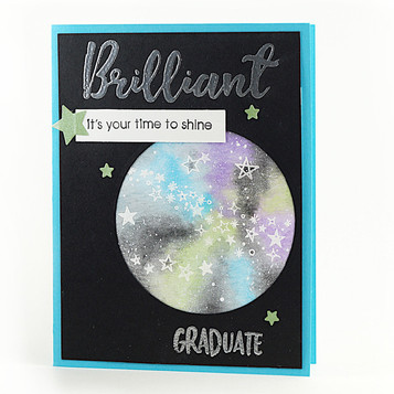 Graduation Greeting Card Watercolor Congratulations