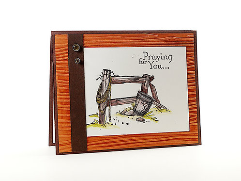 Praying For You Country Side Greeting Card