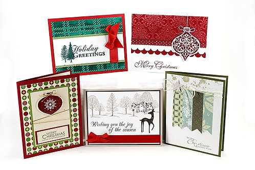 Merry Christmas Greeting Card Set 5 Holiday Cards 04