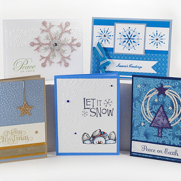 Winter Greeting Card Set 5 Holiday Cards 03