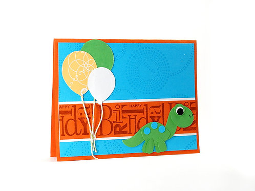Dinosaur Happy Birthday Childrens Card