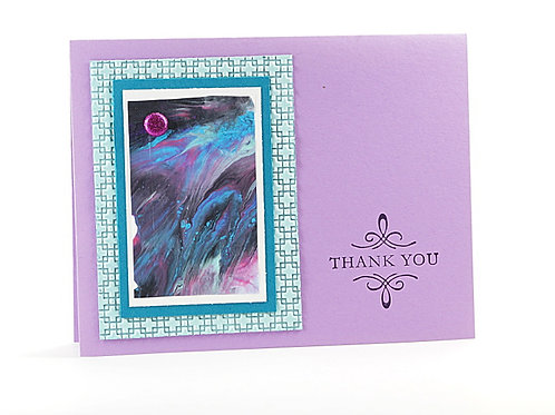 Thank You Marbled Art Card