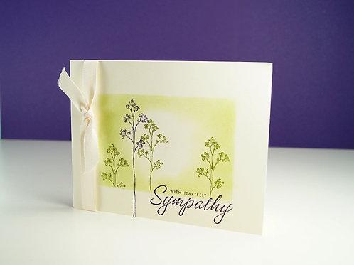 Floral Heartfelt Sympathy Card