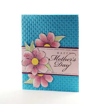 Happy Mothers Day Card Dazzling Dahlias