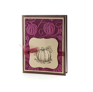 Pumpkin Greeting Card Wine Berry