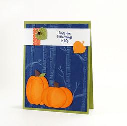 Enjoy The Little Things Fall Pumpkins Card