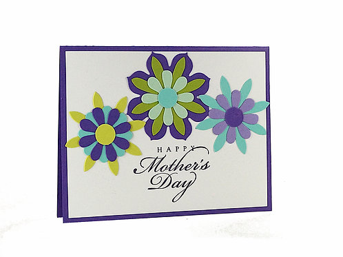 Happy Mothers Day Flowers Card For Mom