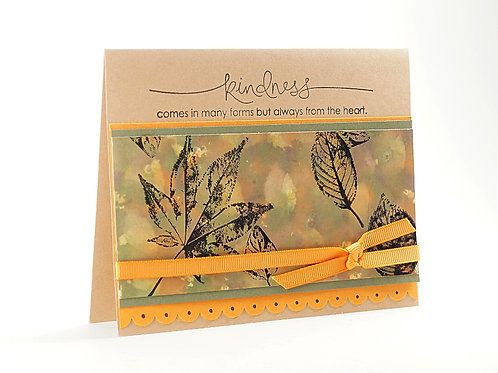 Kindness Fall Leaves Card