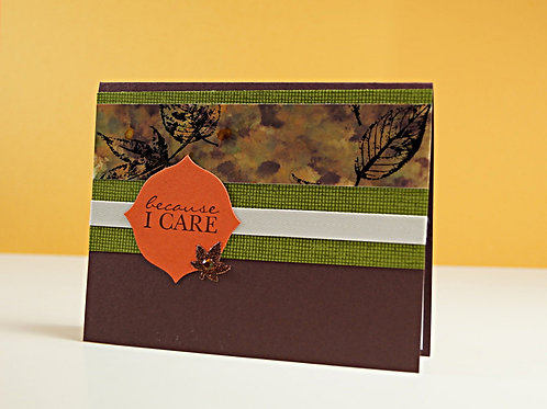 because i care handmade card