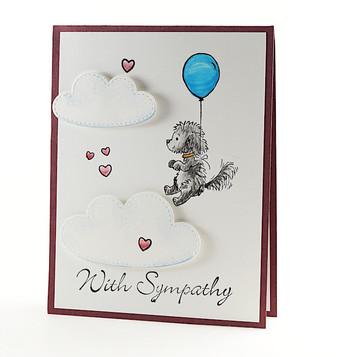 Dog Sympathy Handmade Card