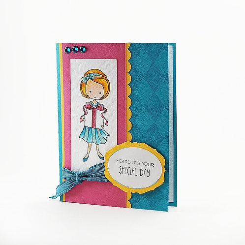 Birthday Card Special Day Party Girl Card