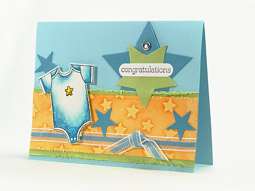 Newborn Baby Congratulations Card Star