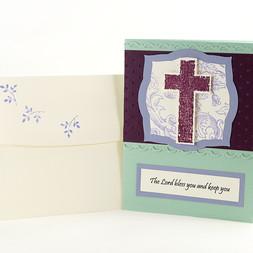 Confirmation Congratulations Cross Card Wisteria