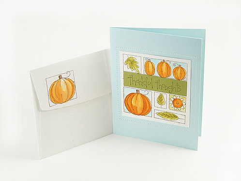 Thankful Thoughts Fall Pumpkin Card