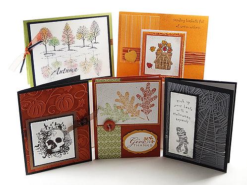 Fall Handmade Card Pack 5 Set 080