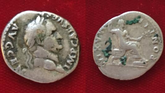 Vespasian AR Denarius 73 CE