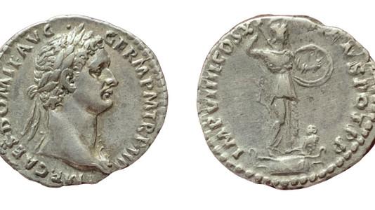 Domitian AR Denarius 85 CE