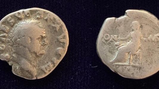 Vespasian AR Denarius 71 CE