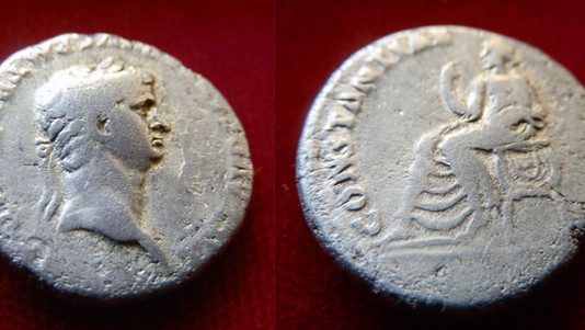 Claudius Denarius 41-54 CE
